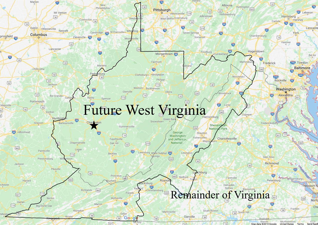 Virginia Counties Can Become a Part of Another State